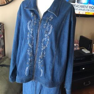 Susan Graver Beaded Jean Jacket